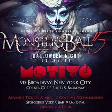 halloween city the monster ball nyc u0027s top rated halloween night party motivo