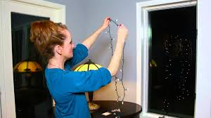 how to attach christmas lights to the inside of a window
