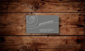 masculine conservative business card design for jenny boustred by