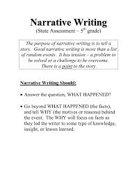 Taks Writing Rubric For   th Grade   narrative writing rubric
