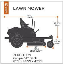 amazon com classic accessories 73997 zero turn riding lawn mower