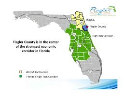 Florida Area Code Map by Maps Flagler County