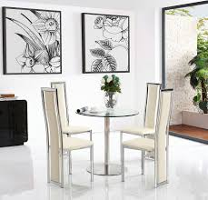 target dining set with 2 ivory chairs modern furniture direct