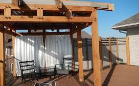 Timber Frame Pergola by Large Decks