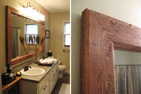 Bathroom Mirror Ideas On Wall Add A Mirrormate Frame To The Mirror While Its On The Wall For An