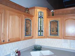 Kitchen Cabinet Glass Kitchen Corner Cabinet With Clever Storage Systems Inside Amaza