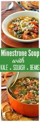 minestrone soup with butternut squash kale bacon and parmesan