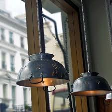 Lighting For A Kitchen by Best 25 Colander Light Ideas On Pinterest Eclectic Light Bulbs
