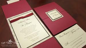 folded invitation red wedding invitation u2013 a vibrant wedding