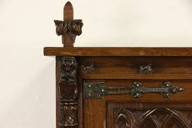 antique oak bookcase with glass doors sold dutch carved oak 1915 antique gothic library bookcase