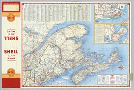 Map Of Portland Maine by Various Regions And Cities In And Around Maine Including Canadian