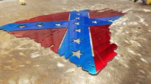 Rebel Flag Home Decor by Tattered And Torn Confederate Rebel Flag Metal Art Advanced