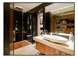 master bathroom with wash basin cabinet design by architect amit