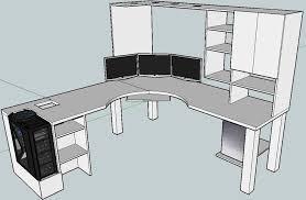 blkfxx u0027s computer desk build home office pinterest desks