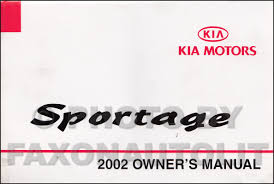 2001 2002 kia sportage parts book original