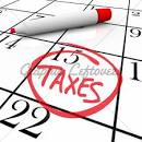 Calendar TAX DAY Circled · GL Stock Images