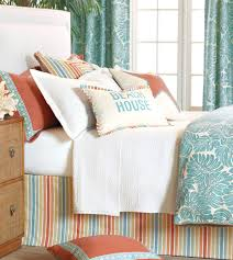Jcpenney Clocks Bedroom Coral And Turquoise Bedding With Black Headboard And