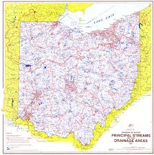 Ohio State Parks Map Ohio Watershed U0026 Drainage Basin Maps