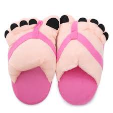 cheap wholesale winter warm plush big feet indoor house slippers