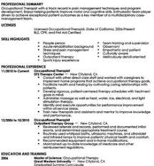 Therapist Resume Examples by Use This Professional Occupational Therapist Resume Sample To