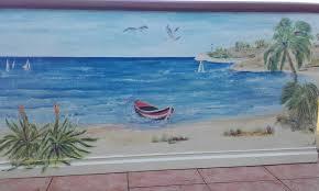 peinture de bord de mer peinture décorative sur mur extérieur trompe l u0027œil sur le thème