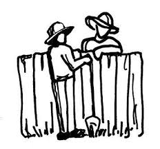 image of neighbors talking, borrowed from cedoburlington.org