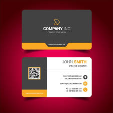 Standard Business Card Design Business Card Design Vector Free Download