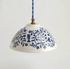 Blue Pendant Lights by 20 Porcelain Pendant Light Treasures