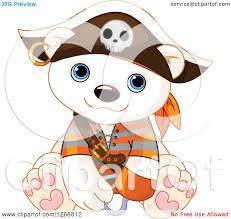 halloween cute clipart clipart of a cute baby polar bear in a pirate halloween costume