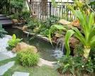 ฮวงจุ้ยการจัดสวนน้ำตก บ่อน้ำหน้าบ้าน และ