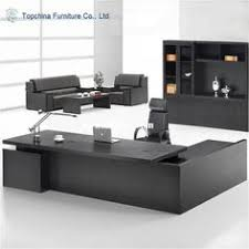 dark chocolate modern u shaped office desk with brushed nickel