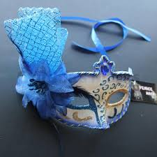 Home Parties Home Decor by Royal Blue Floral Pvc Venetian Masquerade Mask For Wedding