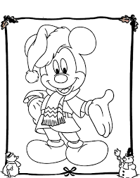 minnie mickey mouse christmas coloring pages 2 with mickey mouse