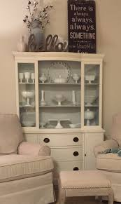 Kitchen China Cabinets China Cabinet Redo Ben Moore Chalk Paint Color White Dove And
