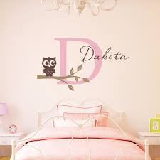 online get cheap wall sticker for girl room owl with name owl tree branch wall decals personalized initial name wall stickers for girl nursery home decor