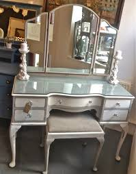 White Shabby Chic Dressing Table by Chouchou Vintage Queen Anne Dressing Table And Stool Refurb