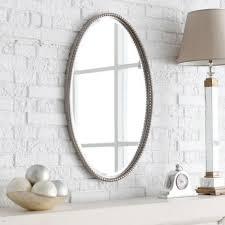 Bathroom Mirror Design Ideas White Framed Oval Bathroom Mirror Creative Bathroom Decoration