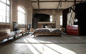 Walnut Furniture Bedroom by Fabulous Industrial Bedroom Ideas With Concrete Wall And Walnut