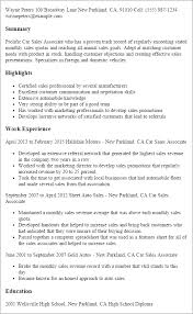Professional Car Sales Associate Templates to Showcase Your Talent     My Perfect Resume