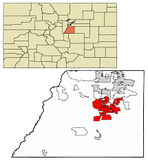 Map Of Colorado And Surrounding States by Castle Rock Colorado Wikipedia
