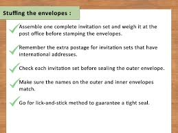 New Office Invitation Card How To Address Response Card Envelopes With Pictures Wikihow