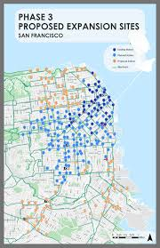 Sf Metro Map by Bike Share Expansion Over 80 Of 546 Ford Gobike Stations Now
