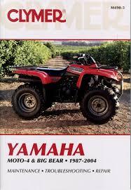 clymer yamaha yfm350 moto 4 big bear 1987 2004 service repair