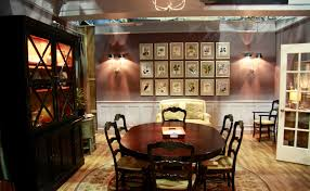 found the view of the dining room of the good wife love the