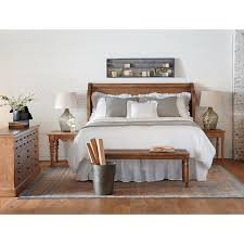 King Headboard King Headboard With Pew Shaped Wings And Shiplap Panels By