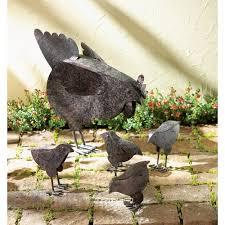 metal chicken sculptures wholesale at koehler home decor