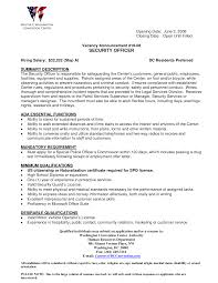 Writing A Summary For Resume Security Guard Customer Service Resume