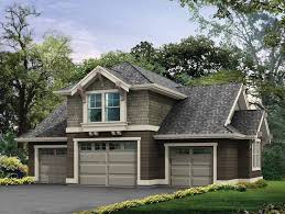 Hip Roof Ranch House Plans Spacious Detached Garage With Attic Storage Hwbdo14868 Craftsman