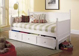Antique White Youth Bedroom Furniture Bedroom Fascinating Cherry Trundle Beds With Storage For Kids