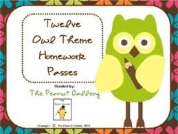 Homework Passes NO HOMEWORK TONIGHT  Your students will hoot with